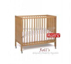 Lit bébé Roll's bois hêtre naturel 120x60 cm