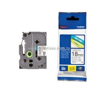 Cassette à Ruban BROTHER TZ211 18mm Noir/Blanc