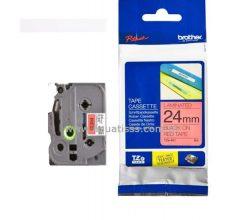 Cassette à Ruban BROTHER TZ451 24mm Noir/Rouge