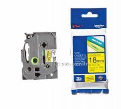 Cassette à Ruban BROTHER TZ641 18mm Noir/Jaune