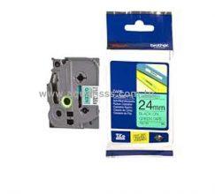 Cassette à Ruban BROTHER TZ751 24mm Noir/Vert