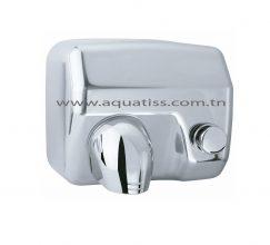 Sèche mains inox à bouton poussoir
