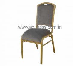 Chaise banquet aluminium empilable