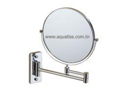 Miroir grossissante double bras et double face