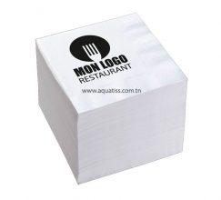 Paquet Serviettes en papier 2 plis personnalisée 30x30 cm Paquet de 50S