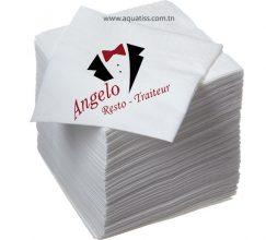 La serviette papier personnalisée vous permettra de communiquer sur l'identité graphique de votre établissement à moindre coût