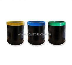 poubelle-selective-cerceau-rond-noir-jaune