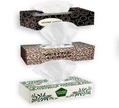 Boîtes de mouchoirs en papier personnalisées avec logo Déco