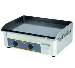 Plaque 2 zones de cuisson 600x400 snacker électrique en acier chromé ROLL GRILL